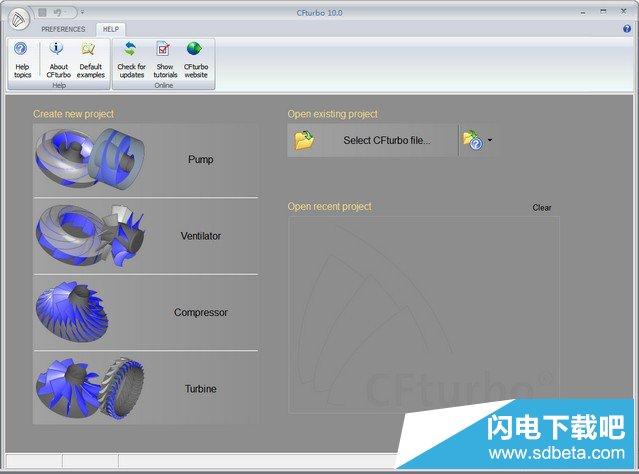 涡轮叶轮机械设计Cfturbo 10.0.7 特别版