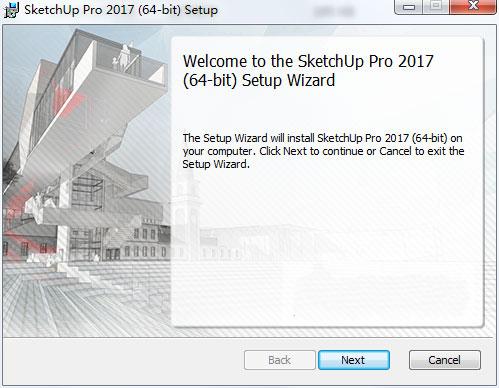 草图大师sketchup pro 2017破解版 SketchUp Pro 2017 中文破解版v17.2.2555 64位 附注册机 安装教程 闪电软件园