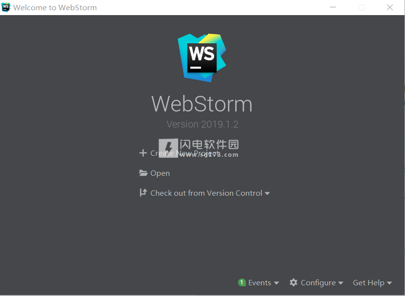 WebStorm 2019汉化破解版 JetBrains WebStorm 2019 2 1中文破解